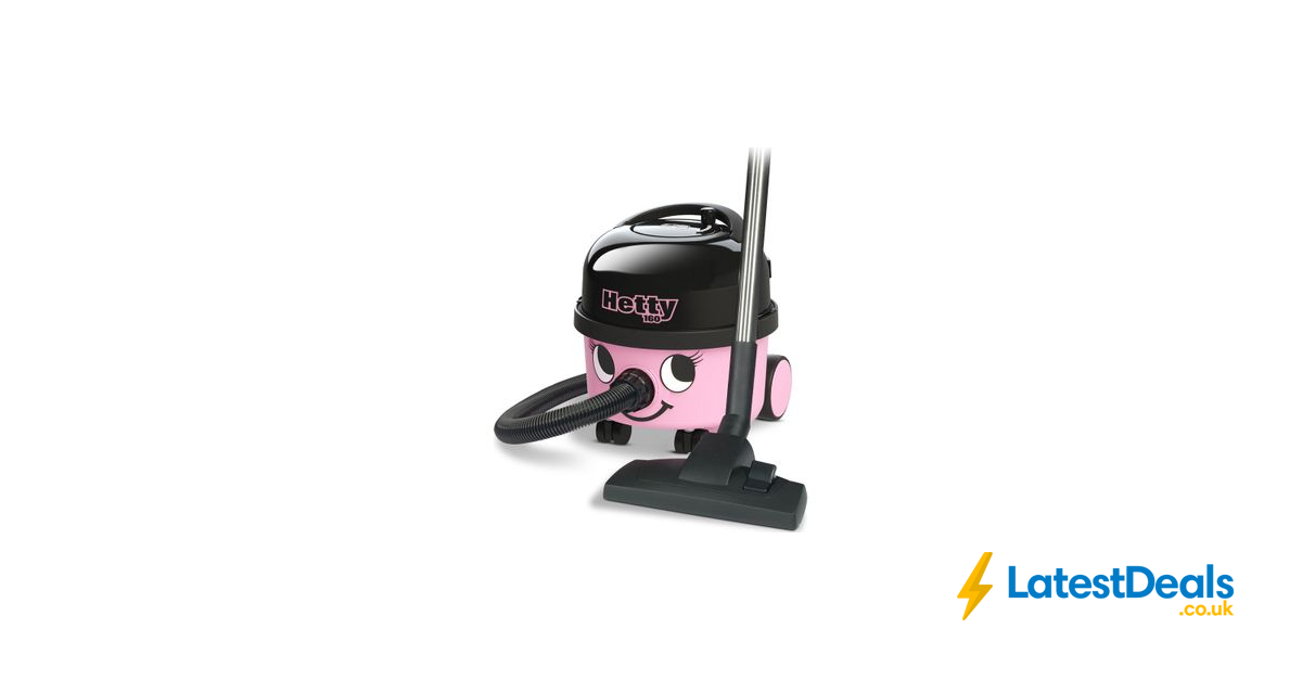 NUMATIC Hetty Cylinder Vacuum Cleaner Pink, £99 at