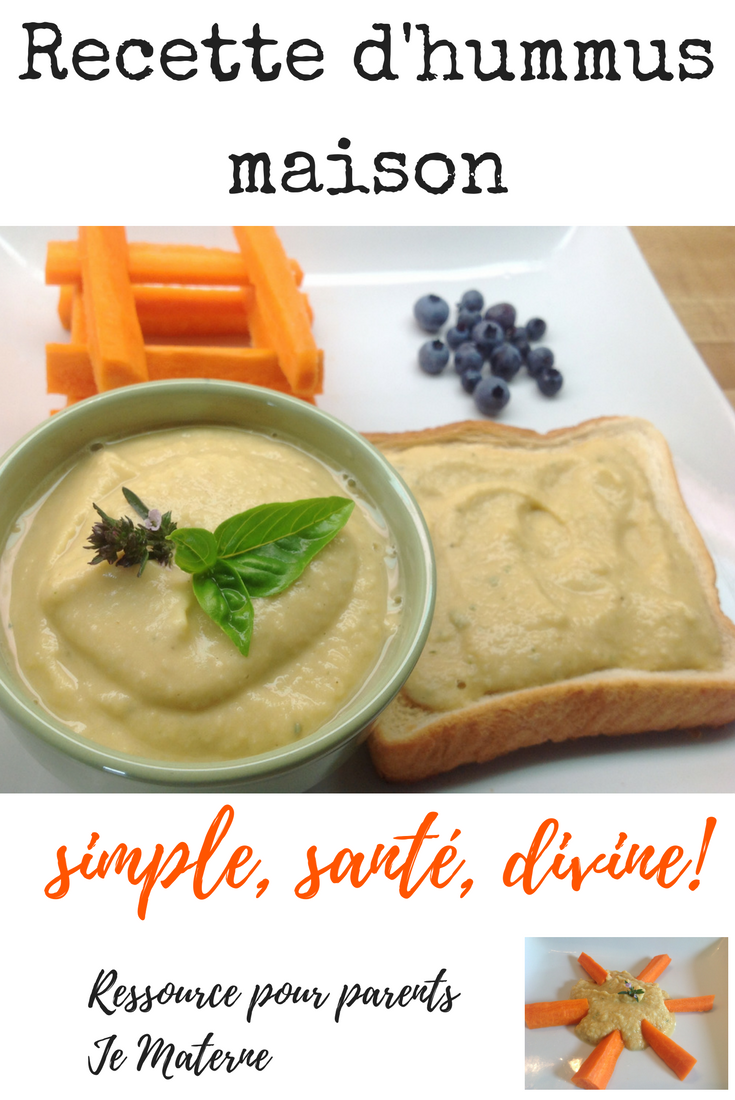 Recette d'hummus (houmous, humus, trempette ou tartinade de pois chiches) rapide…