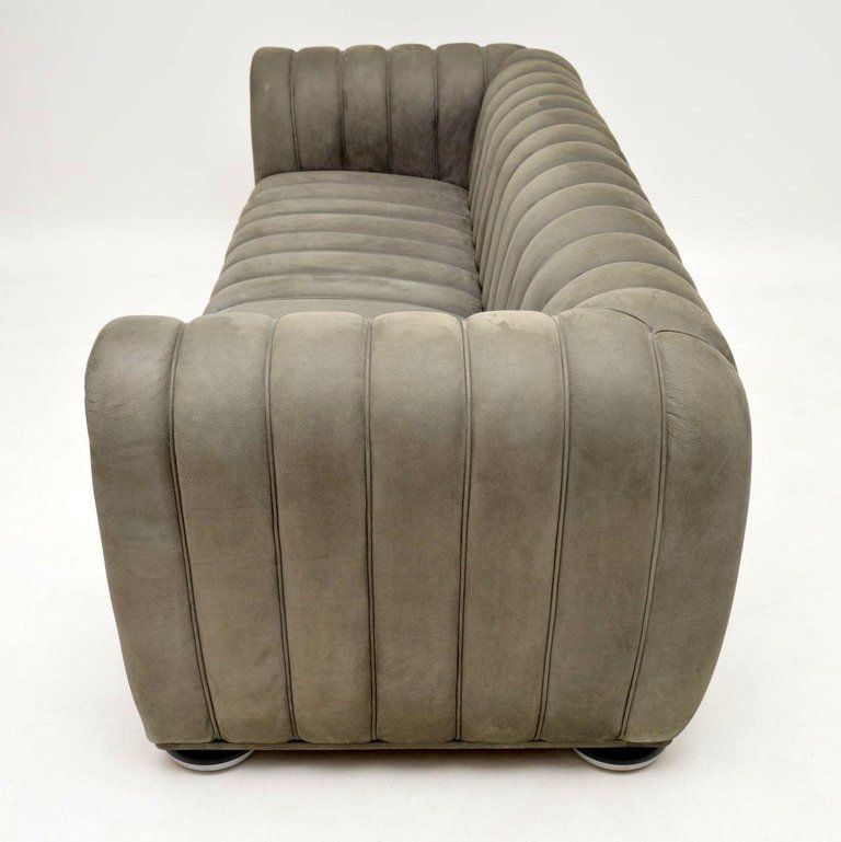 Brilliant Josef Hoffmann Club 1910 Sofa In Nubuck Leather By Wittmann Ocoug Best Dining Table And Chair Ideas Images Ocougorg