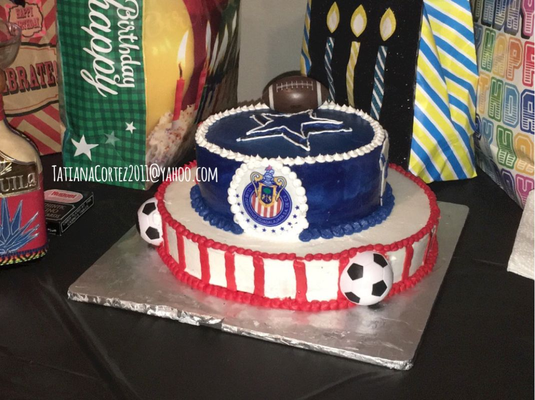 Dallas cowboys birthday cake ideas and designs - Nfl Dallas Cowboys Cake Mexican Soccer Team Chivas Cake