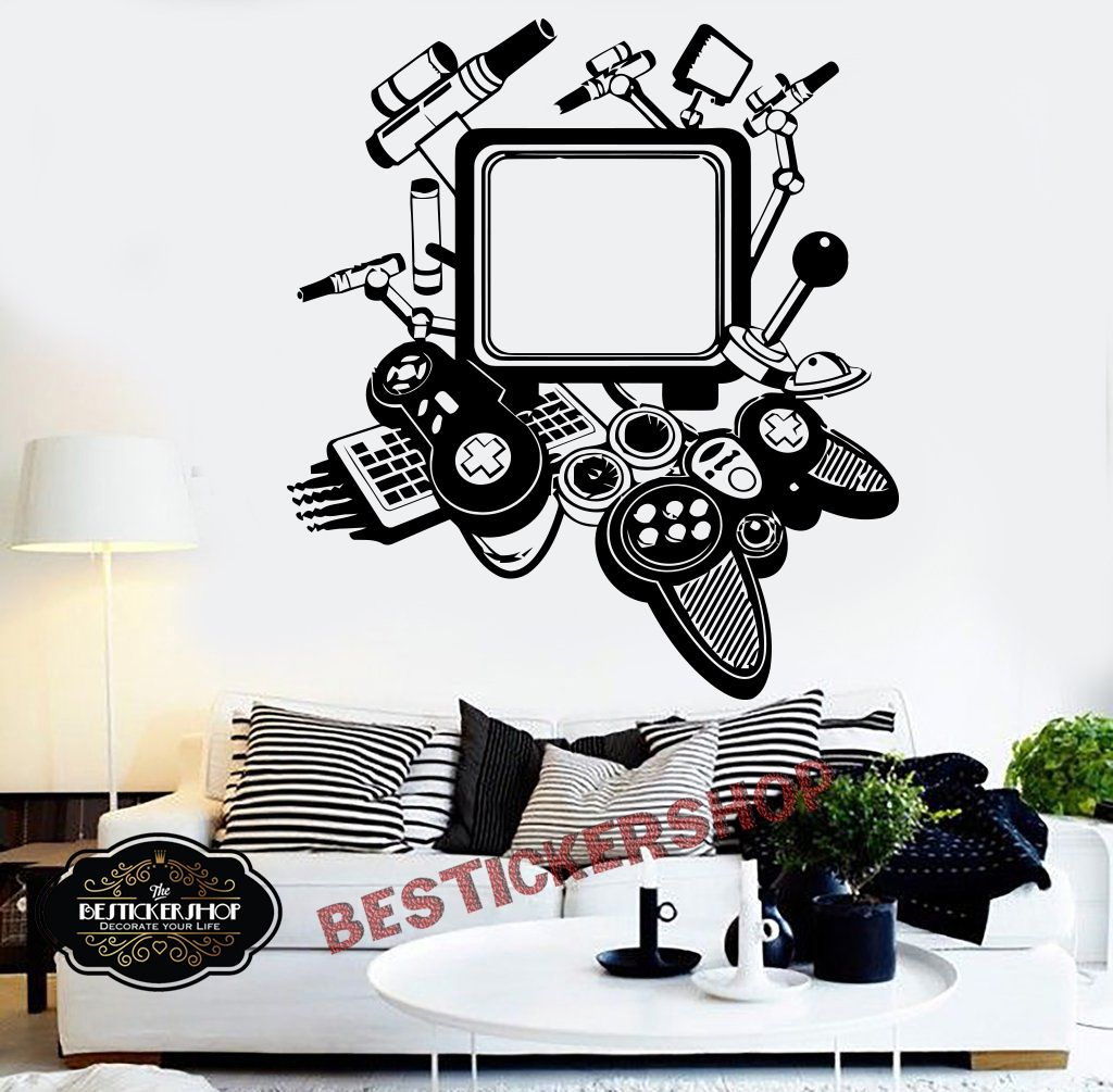Pin By Bestickershop On Gamer Vinyl Wall Art Bedroom Personalized Wall Decals Wall Stickers Bedroom