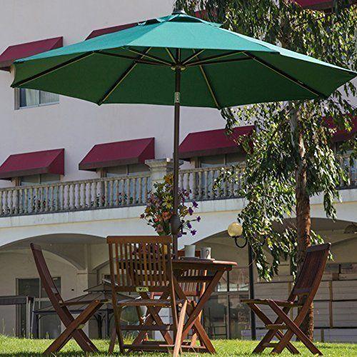 Abba Patio 9 Ft Fade Resistant Sunbrella Fabric Patio Umbrella With