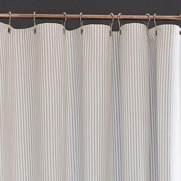 Ticking Stripe Shower Curtain Westelm