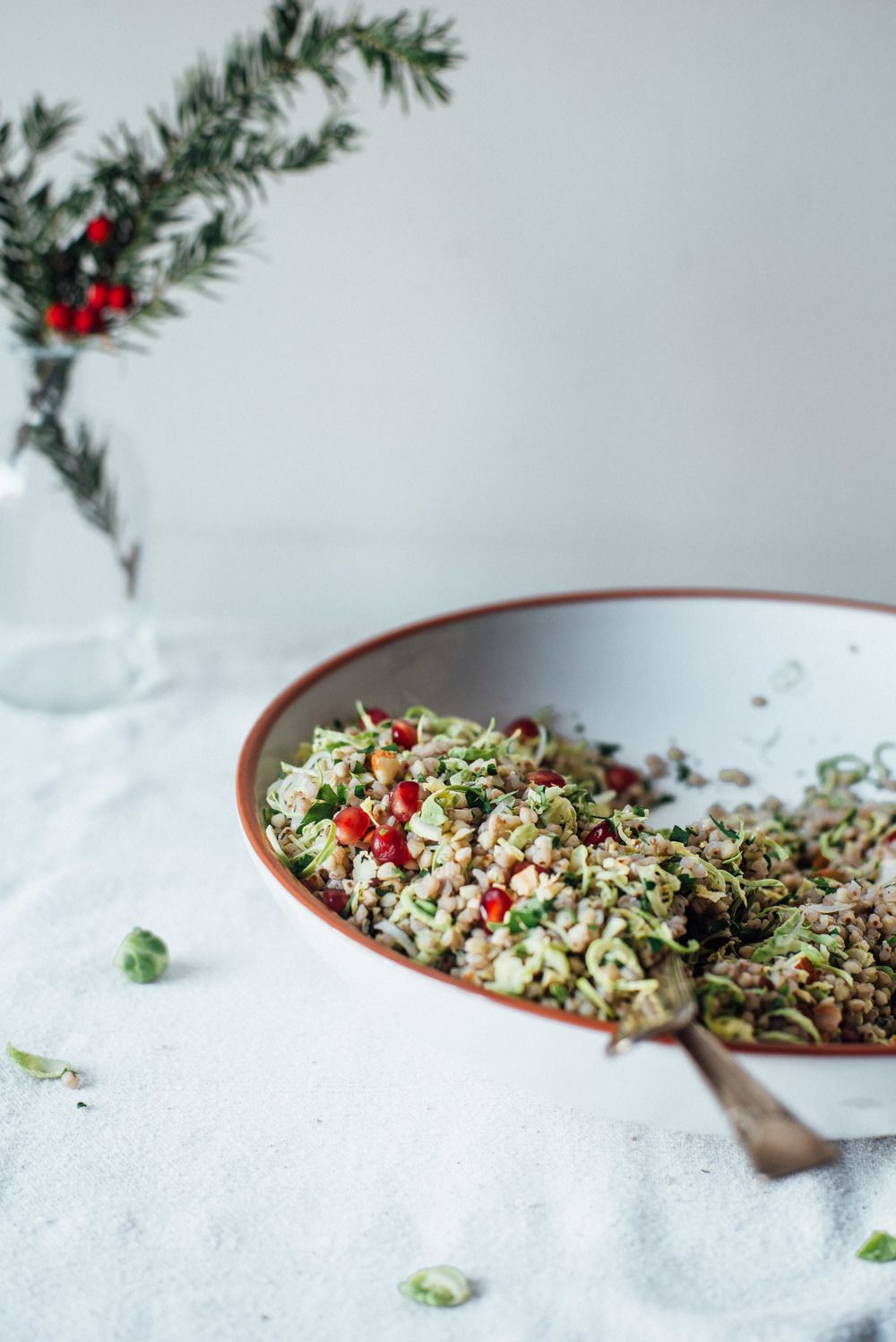 winter buckwheat + shaved brussels sprout bowl | dolly and oatmeal ...