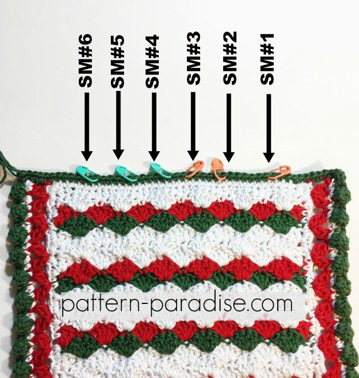 Free Crochet Pattern: Holiday Helper Dish Towel