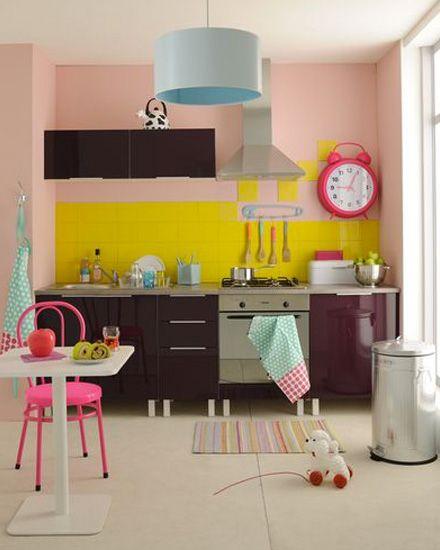 une cuisine color e avec fly cuisines color es cuisines et refaire. Black Bedroom Furniture Sets. Home Design Ideas