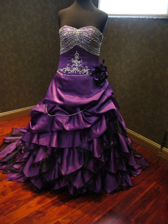 Royal Purple Wedding Dress Alternative Offbeat Custom Made To Your