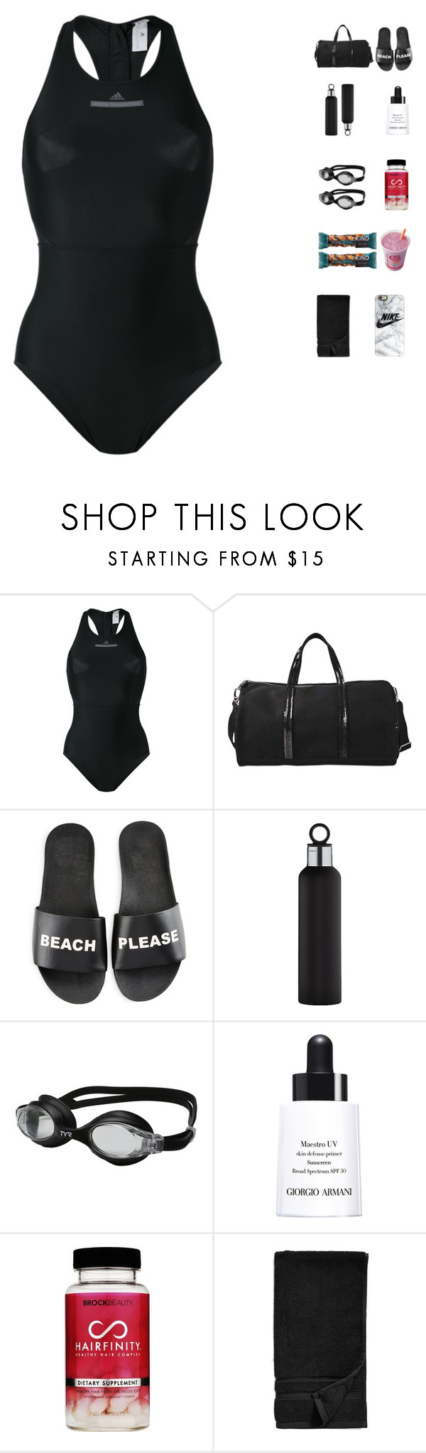 """""""5774"""" by tiffanyelinor ❤ liked on Polyvore featuring adidas, Vanessa Bruno, Schutz, blomus, TYR, Giorgio Armani, FRUIT, Waterworks and Casetify"""