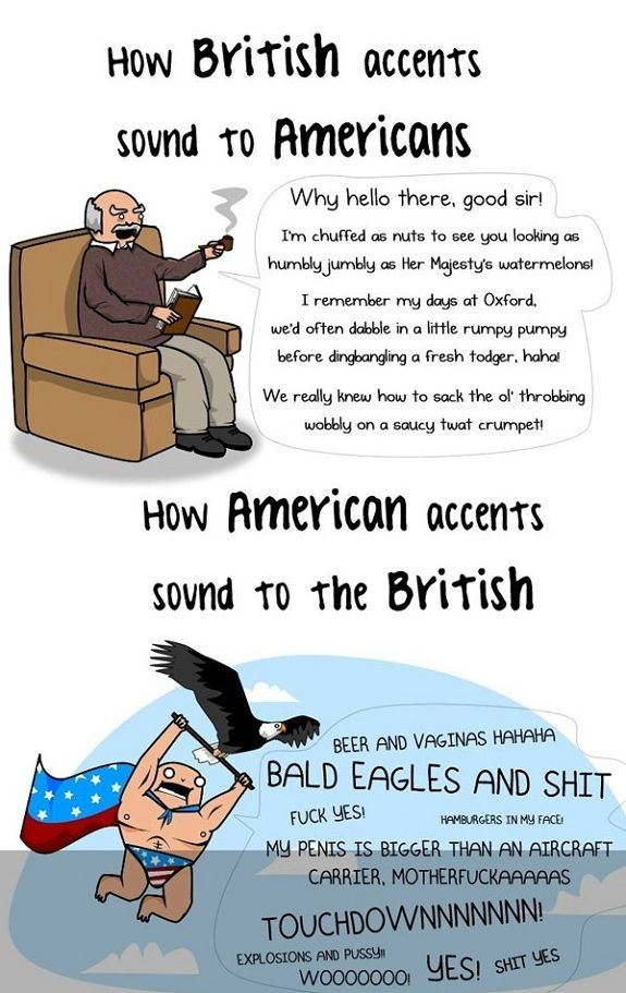 British accent vs american accent - http://www.jokideo.com/