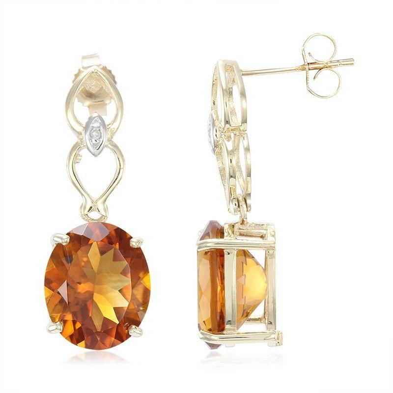 Gold Wear These 9k Madeira Citrine Earrings