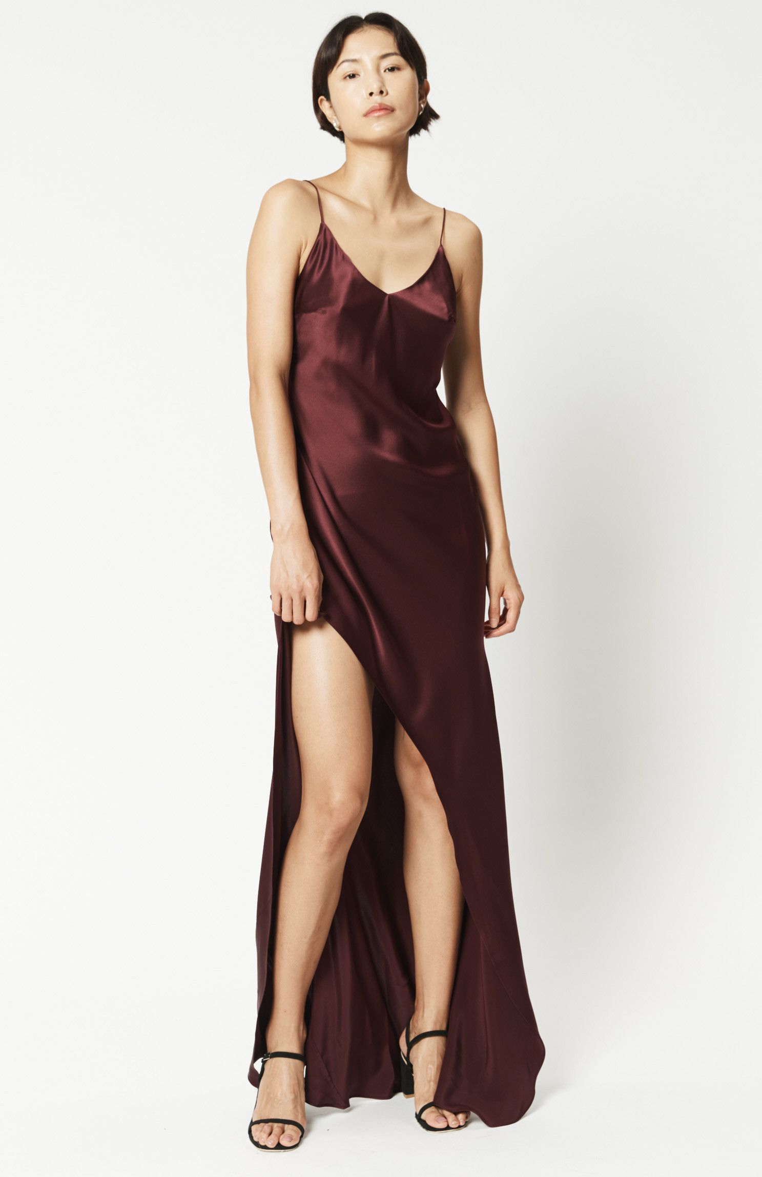 e58f08dcb2c Product Details This slip dress is an exquisite pick for evening events.  It s bias cut from lustrous