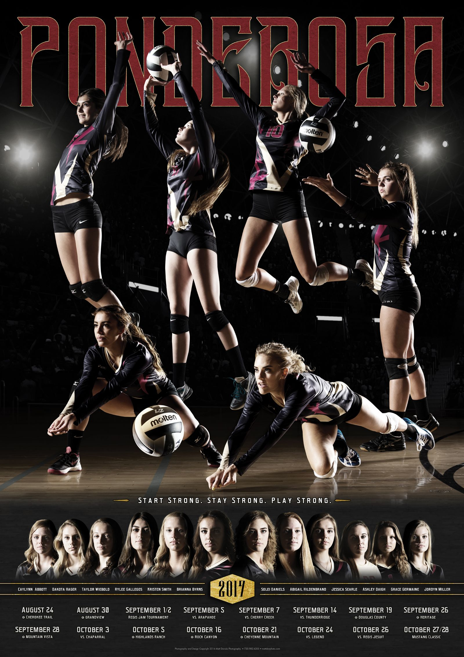 Photography And Poster Design For The 2017 Ponderosa Volleyball Team I Put A Little Extra E Volleyball Team Pictures Volleyball Photos Volleyball Senior Night