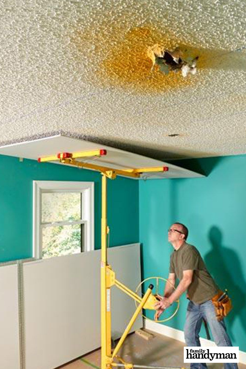 Why Remove Popcorn Ceiling When You Can Cover It With Drywall Popcorn Ceiling Removing Popcorn Ceiling Remodel Bedroom