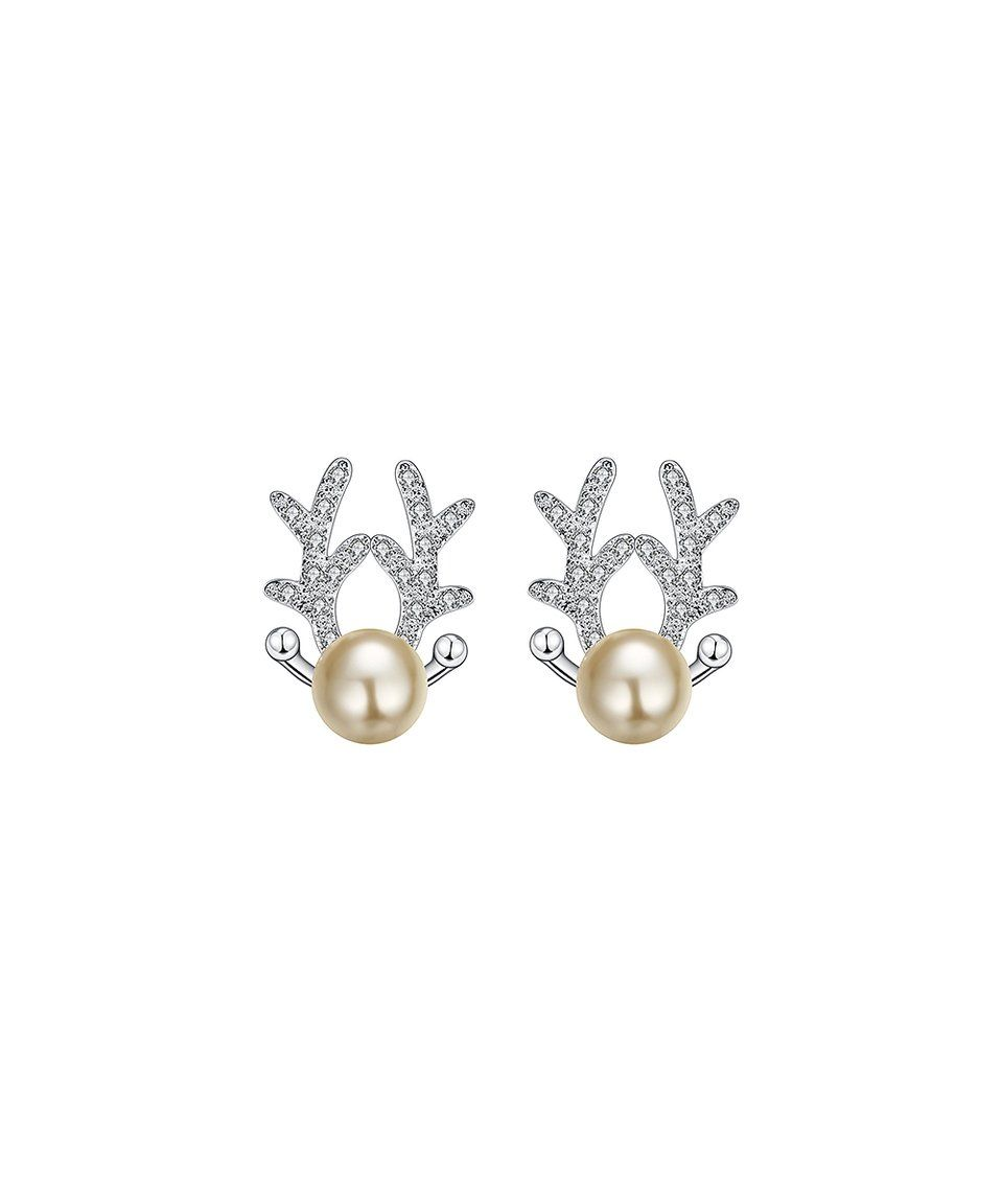 d4aeaace4 Take a look at this Silvertone Antler Stud Earrings With Swarovski® Crystals  today!