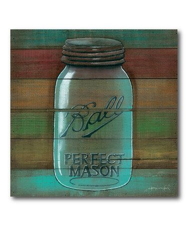 Loving This Ball Mason Jar Gallery Wrapped Canvas On