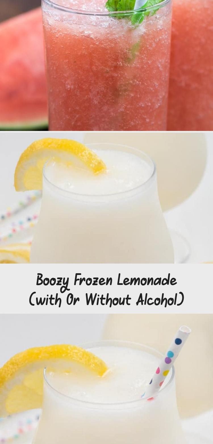 Boozy Frozen Lemonade (with Or Without Alcohol) #frozenlemonade