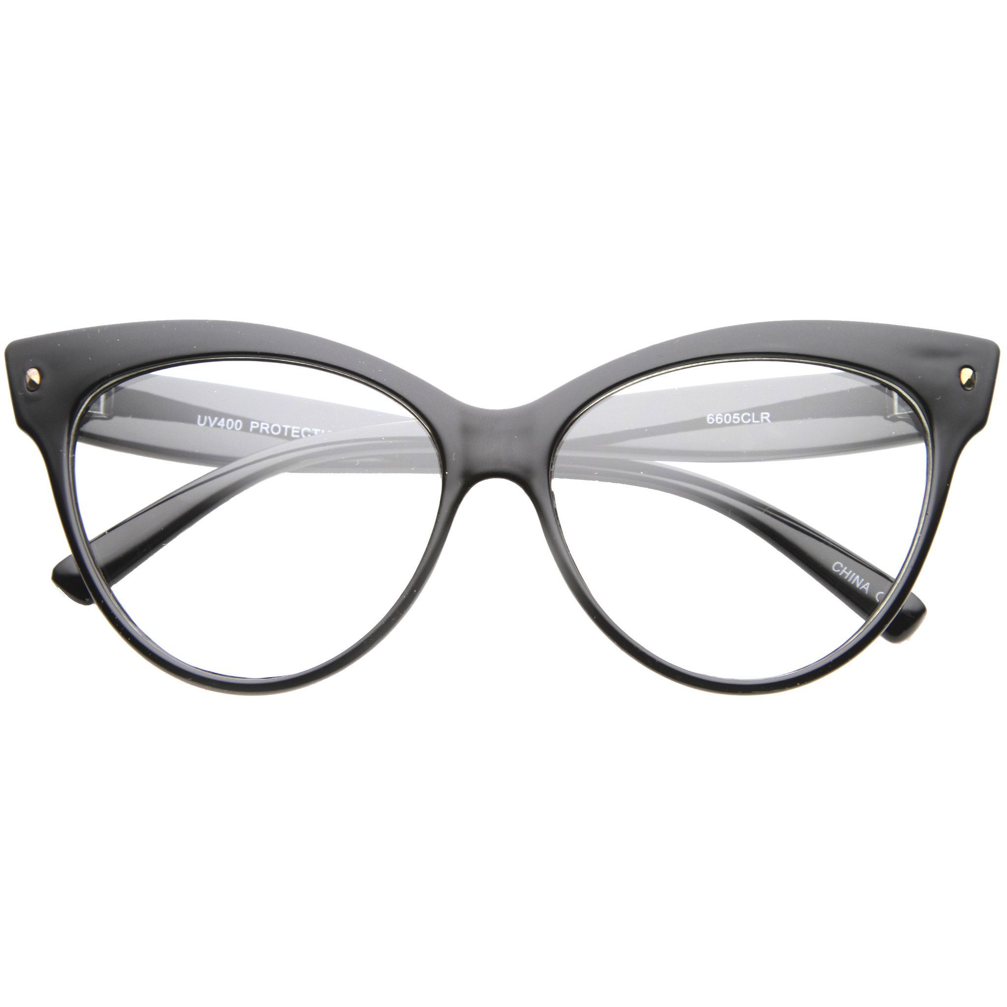 f82182915659 Women's Retro 1950's Cat Eye Clear Lens Glasses A099 | Cool Colored ...
