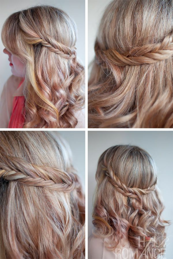 the romantic soft curly fishtail half crown for long hair | fishtail