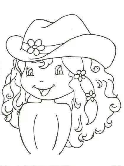 Dibujo Nina Con Sombrero Crazy Quilting Modelos De Pintura Pintura Em Tecido Bonecas