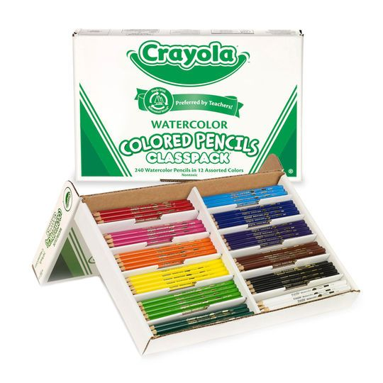 Crayola Watercolor Colored Pencil Classpack Crayola Colored