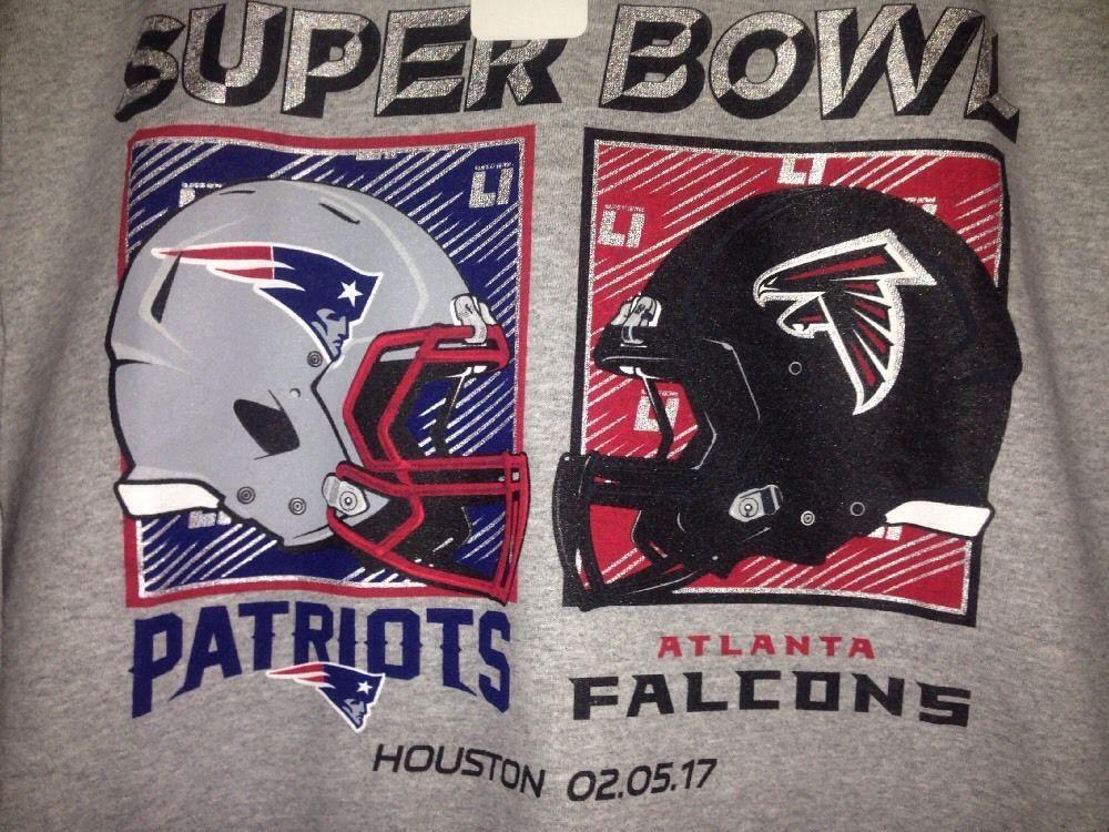 sports shoes ea73d ff5f0 Super Bowl LI 51 Patriots vs. Falcons NFL Team Apparel Grey ...
