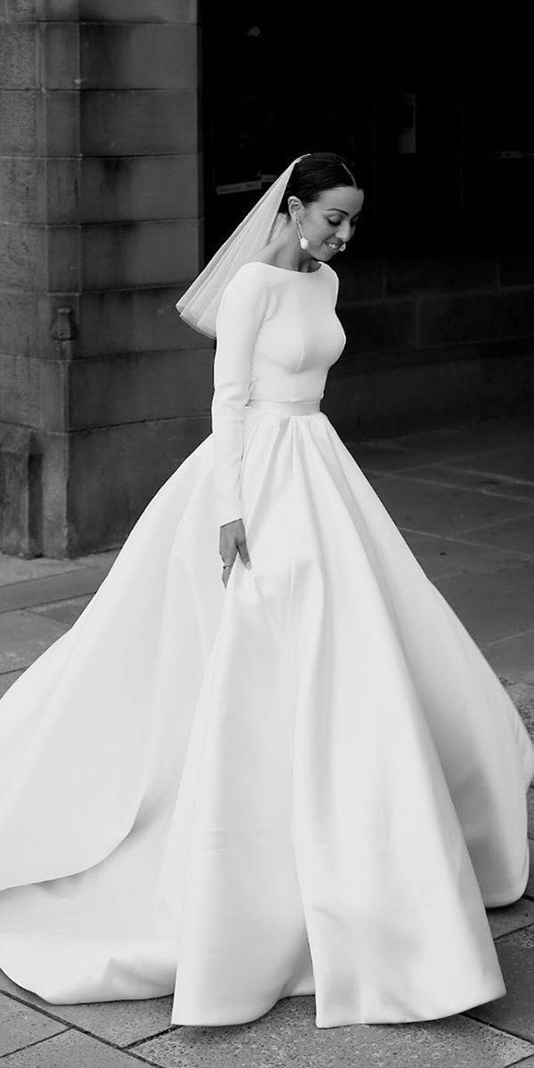 30 Cute Modest Wedding Dresses To Inspire | Wedding Forward -  30 Cute Modest Wedding Dresses To Inspire ❤  modest wedding dresses simple ball gown with long sl - #Cute #cuteoutfits #cuteweddingdress #Dresses #fashionjewelry #fashiontrends #Inspire #Modest #pandoracharms #pandorarings #trendyoutfits #WEDDING #weddingbride