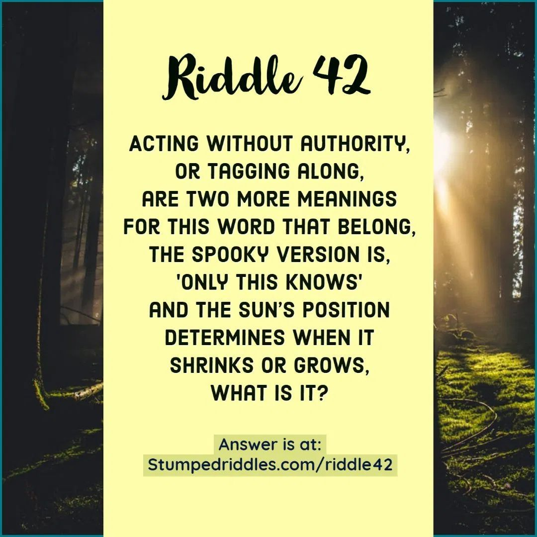 42. A Riddle That Throws Something in 2020 Riddles