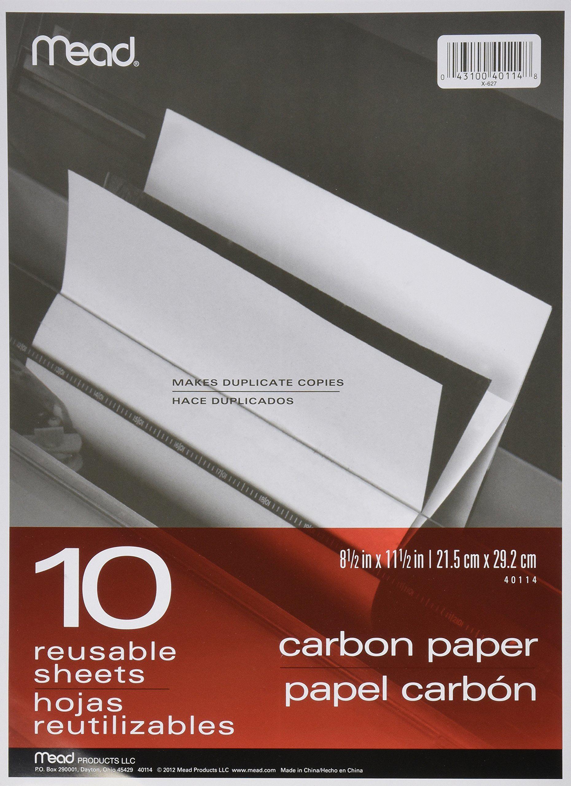 Black carbon mill finish paper 812 x 1112 10 sheets