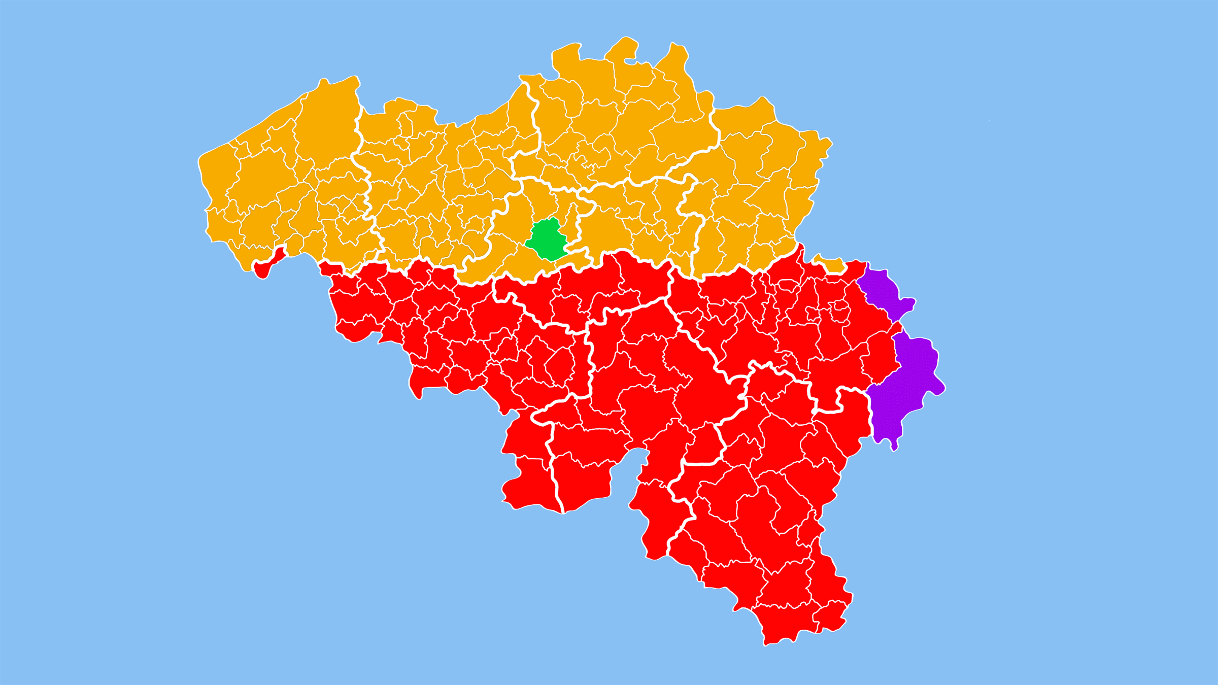 mapa de los idiomas hablados en blgica
