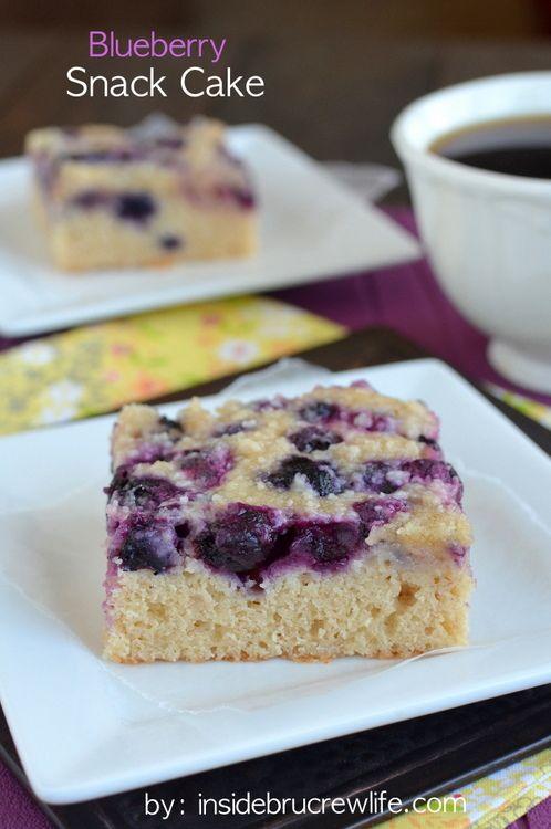 Blueberry Snack Cake From Www Insidebrucrewlife Com Easy