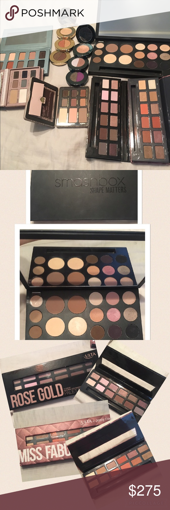 Palettes!! Smashbox Too Faced Stila Ulta And more You get