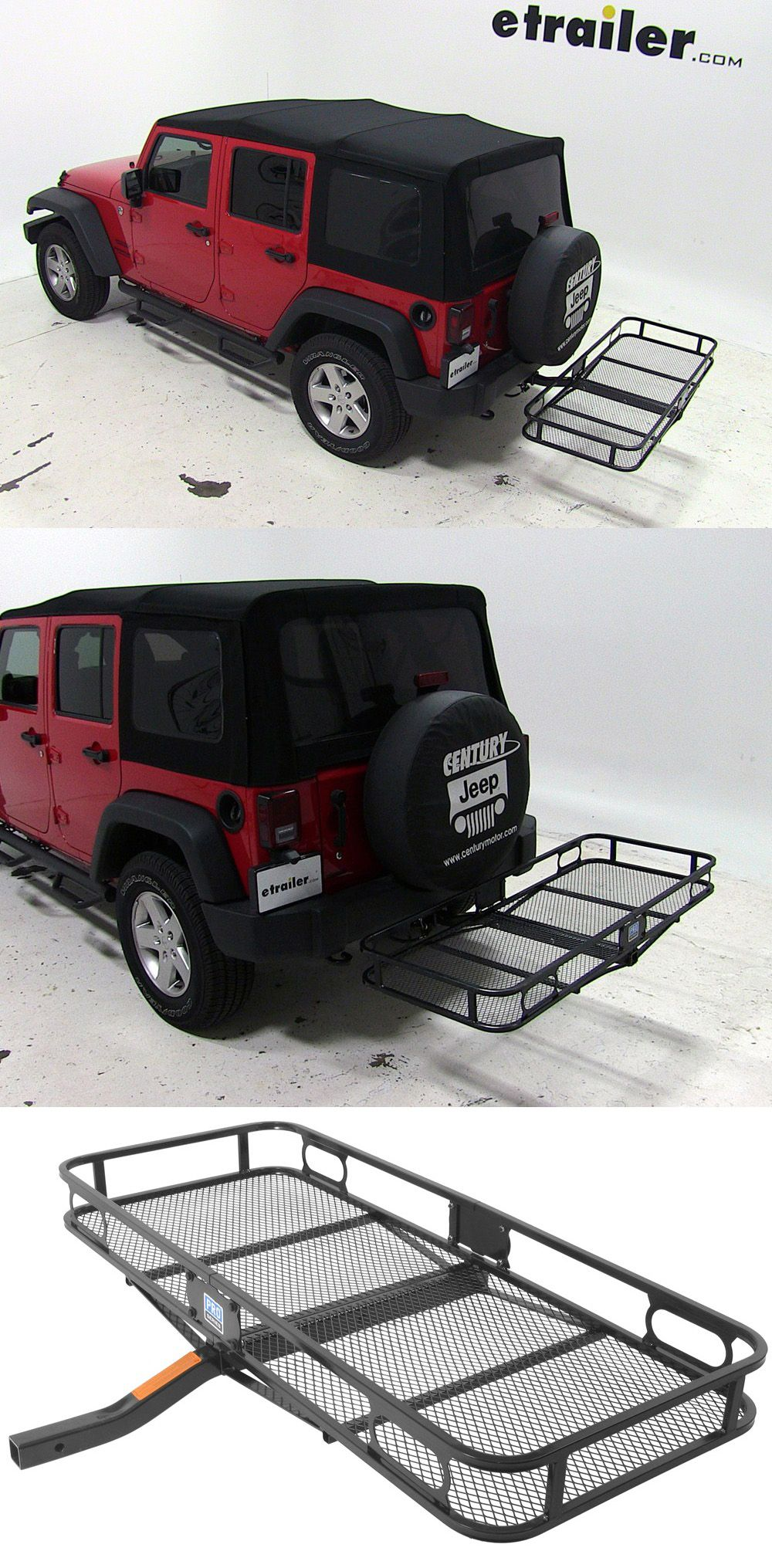 "Trailer Hitch Luggage Rack 24X60 Reese Cargo Carrier For 2"" Hitches  Steel  500 Lbs  Jeeps"