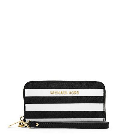 773ec283004b Black and white striped Michael Kors wristlet