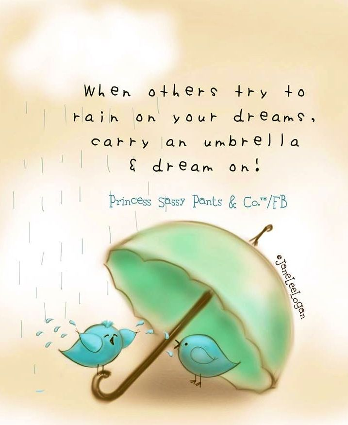 Cute Rainy Day Quotes: Umbrella Quote And Illustration Via Www.Facebook.com
