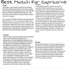 Capricorns match