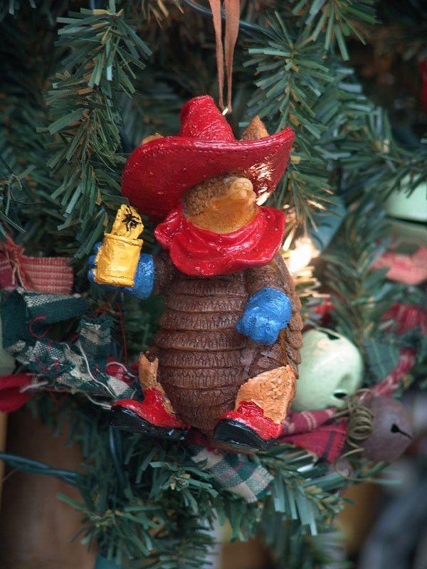 Texas Armadillo with Beans Christmas Ornament Armadillo, Texas and