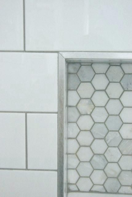 Pin by Brenna Dyer on Mindoro Bathroom   Tile shower niche, Subway tile showers, Shower tile