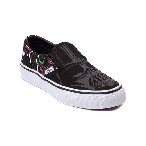 Shop for Youth Vans Darth Vader Slip-On Skate Shoe in Black at Journeys Kidz
