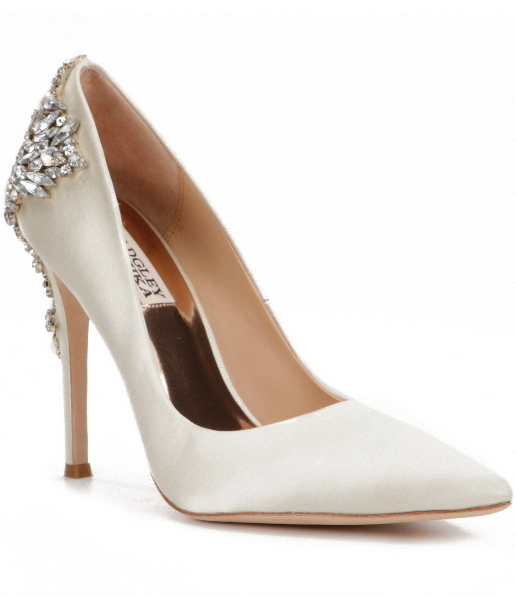 4c58b7b8c Badgley Mischka Gorgeous Satin CrystalEmbellished Pumps  Dillards