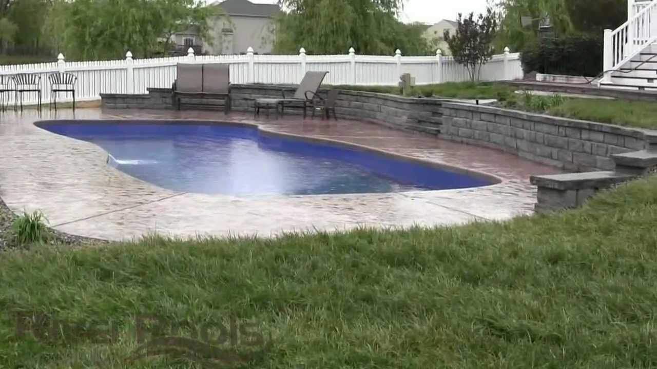 Swiming pools metal pool loungers design with stainless for Pool design retaining wall