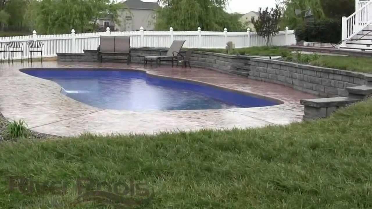 Pool W Retaining Wall Maxresdefault Jpg Sloped Backyard Inground Pool Landscaping Pool Landscaping