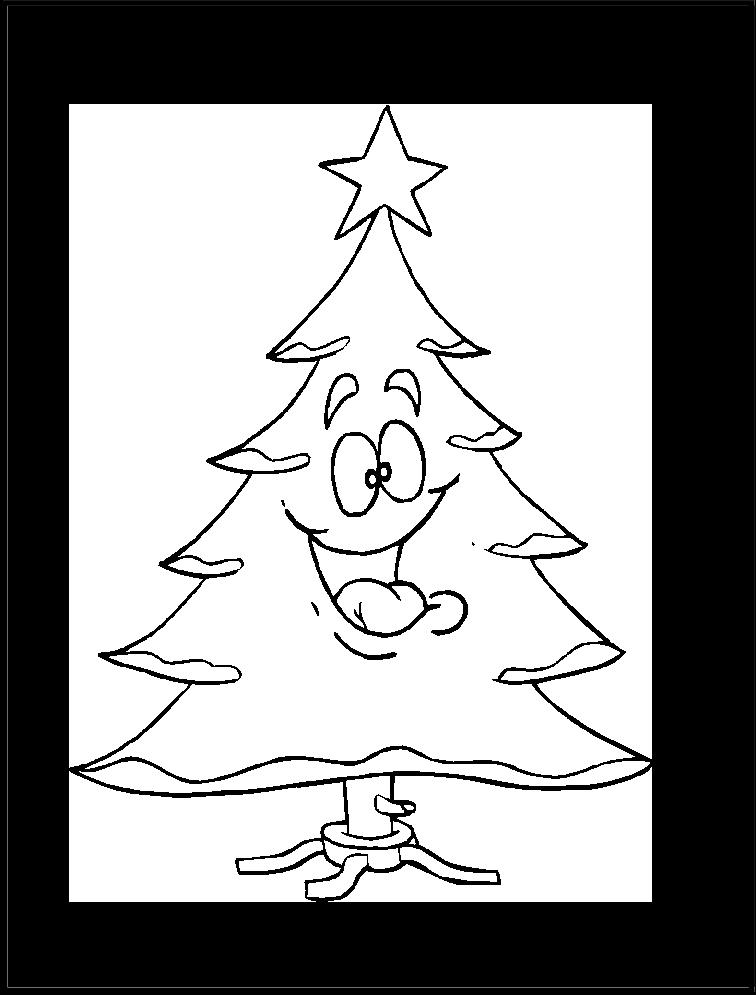 Imagen De Pino De Navidad Imagen Para Colorear Calligraphy