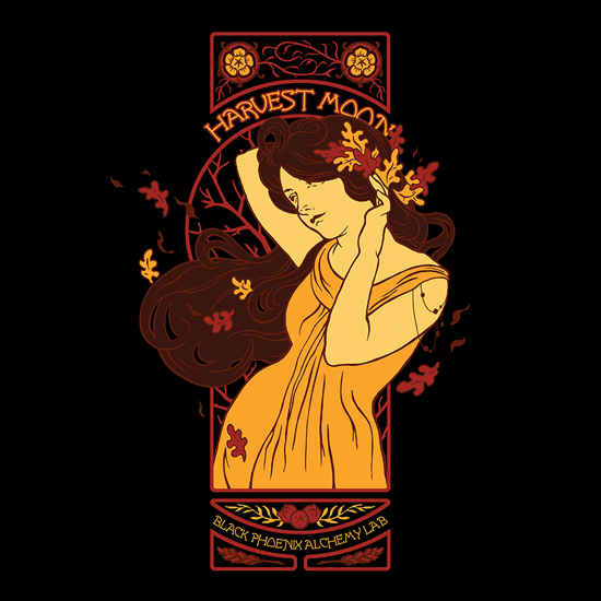 Art Nouveau Harvest Moon 2013 Lunacy Tee by BPAL. Love the art by @tanyabjork