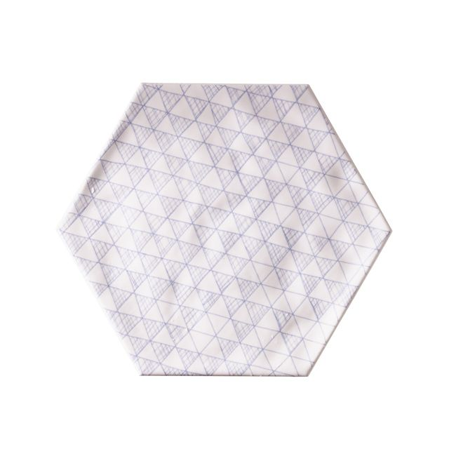 Carrelage mural hexagonal 17 5 x 20 cm d cor makara for Carrelage blanc hexagonal