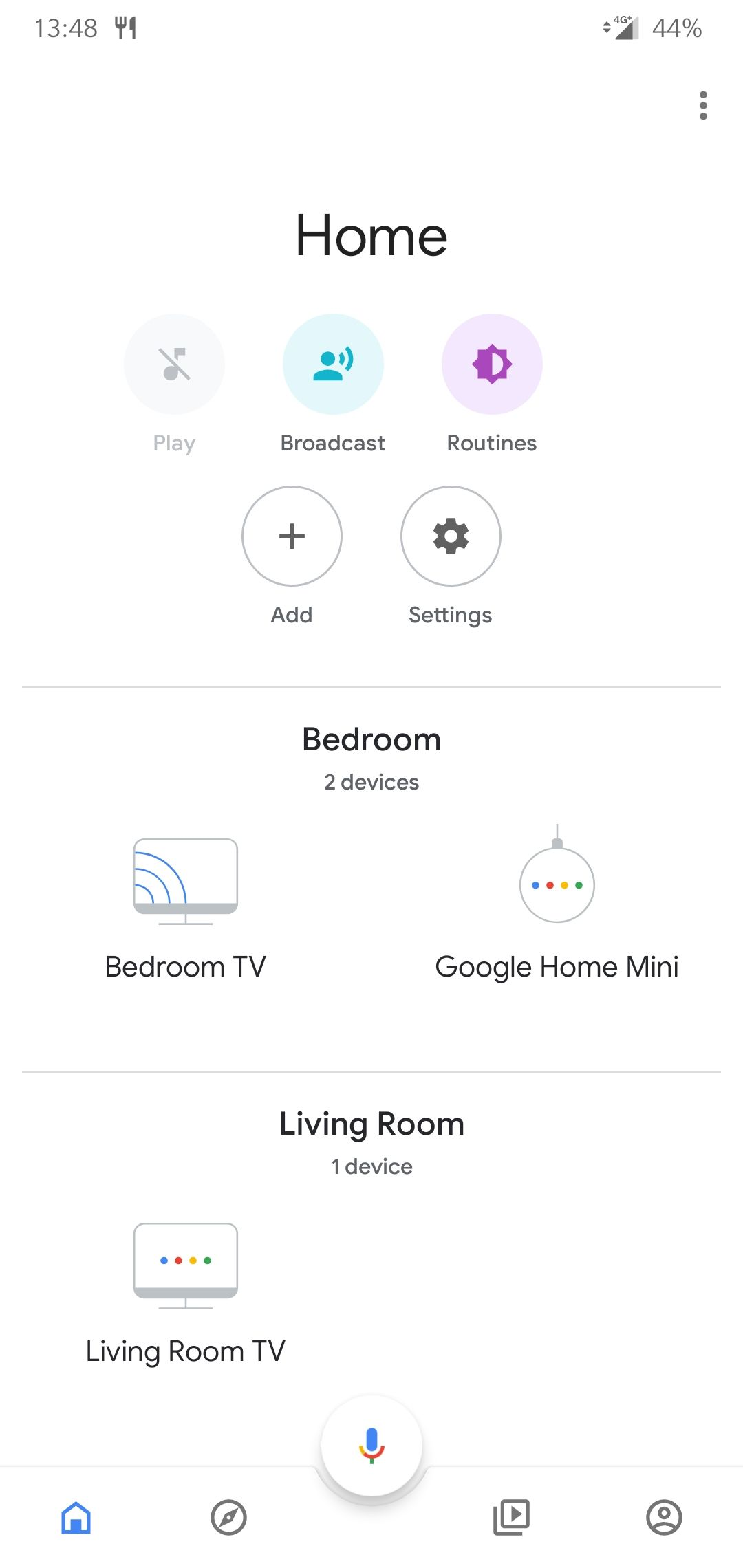 The new Google Home app update is ridiculously off center
