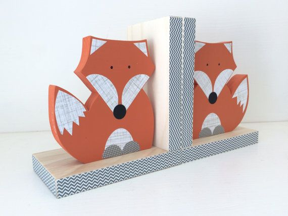 44 Cool Diy Bookends That Are Easy To Make Childrens Bookends Fox Nursery Woodland Nursery