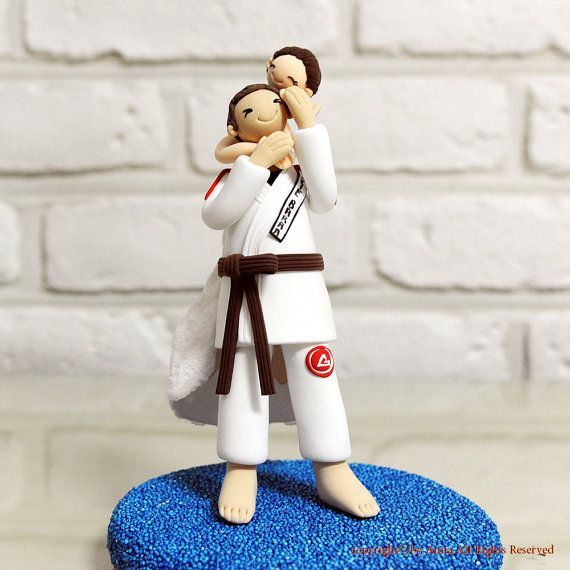 Karate Bride And Groom Cake Topper