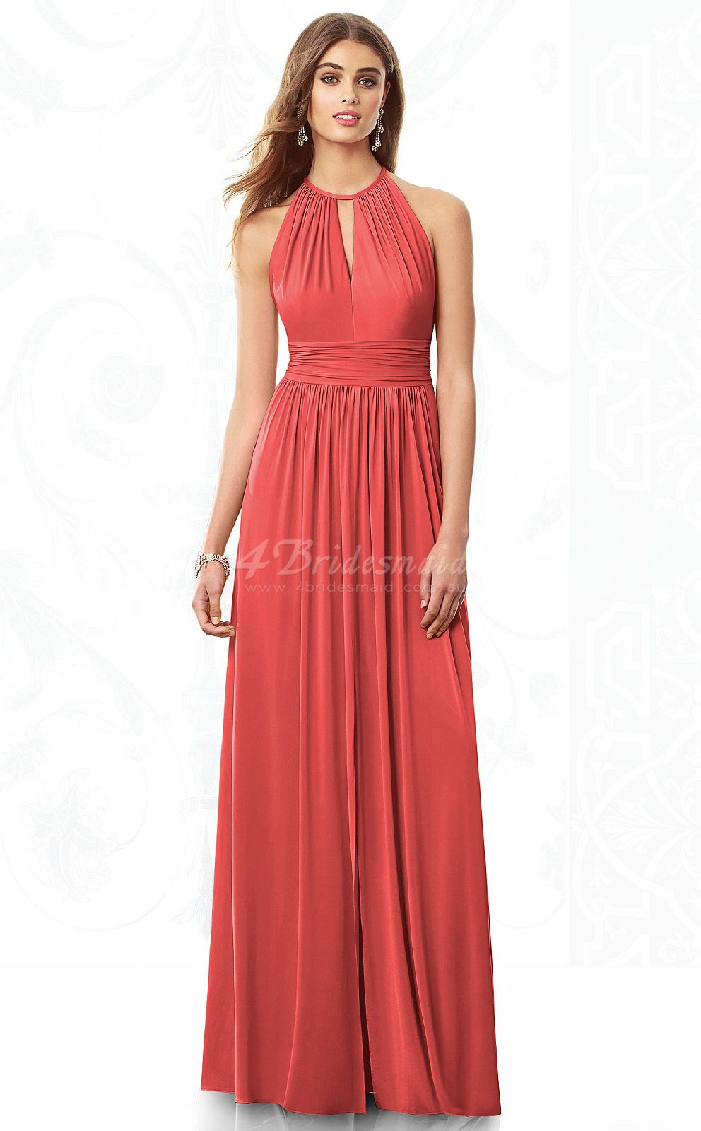 Bridesmaid dress except in sage watermelon chiffon a line halter bridesmaid dress except in sage watermelon chiffon a line halter floor length bridesmaid ombrellifo Image collections