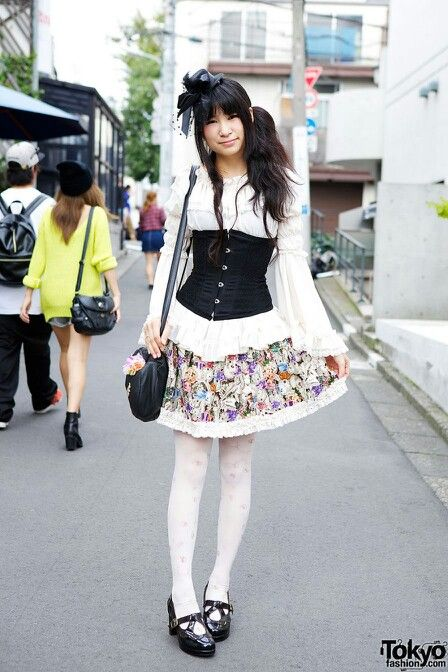 d0e79dff863 Cute corset outfit  ) Cat Tights