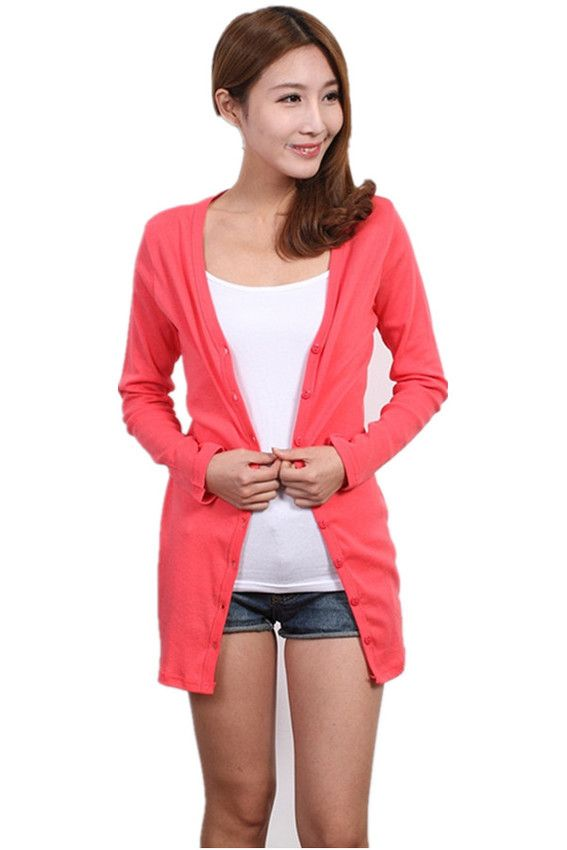 Long Sleeve Cotton Cardigan Melon | Lazada Malaysia | style ...
